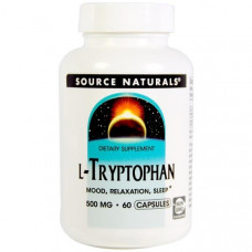 Source Naturals, L-триптофан, 500 мг, 60 капсул