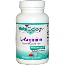 Nutricology, L-аргинин, 100 вегетарианских капсул