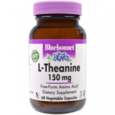 Bluebonnet Nutrition, L-теанин, 150 мг, 60 вегетарианских капсул