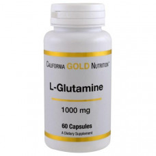 California Gold Nutrition, L-глютамин, 1000 мг, 60 капсул