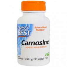 Doctors Best, Карнозин, 500 мг, 90 вегетарианских капсул