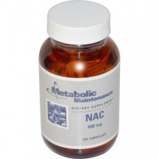 Metabolic Maintenance, NAC, 600 мг, 60 капсул