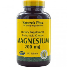 Магний Natures Plus 200 мг, 180 таблеток