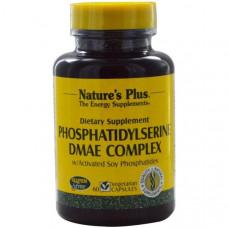 Natures Plus, Комплекс фосфатидилсерина и ДМАЭ, 60 растительных капсул