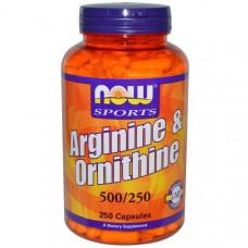 Now Foods, Arginine & Ornithine, 500/250, 250 капсул