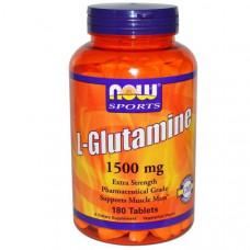 Now Foods, Спорт, L-глютамин, 1500 мг, 180 таблеток