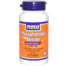 Now Foods, Фосфатидилсерин, 100 мг, 50 капсул