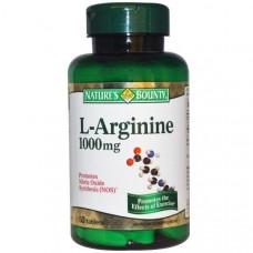 Natures Bounty, L-аргинин, 1000 мг, 50 таблеток