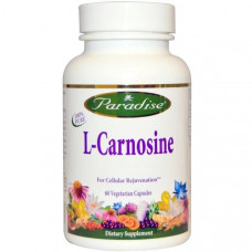 Paradise Herbs, L-карнозин, 60 вегетарианских капсул