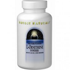 Source Naturals, L-орнитин, в форме порошка, 3,53 унции (100 г)