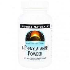 Source Naturals, L-фенилаланин, порошок, 3,53 унции (100 г)
