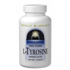 Source Naturals, L-Тирозин, 500 мг, 100 таблеток