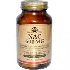 Solgar, NAC (ацетилцистеин), 600 мг, 120 капсул на растительной основе