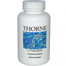 Thorne Research, L-тирозин, 90 растительных капсул