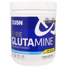 USN, Чистый микронизированный порошок глютамина, без вкуса, 300 г