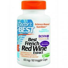 Doctors Best, Экстракт французского красного вина (Best French Red Wine Extract), 60 мг, 90 растительных капсул