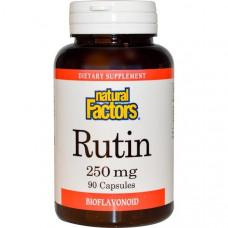 Natural Factors, Рутин, 250 мг, 90 капсул