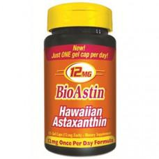 Nutrex Hawaii, БиоАстин, гавайский астаксантин, 12 мг, 25 гелевых капсул