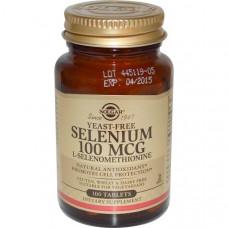 Селен бездрожжевой Solgar, 100 таблеток
