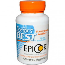Doctors Best, Epicor, 500 мг, 60 капсул в растительной оболочке