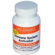Life Source Basics (WGP Beta Glucan), Активатор иммунной системы, 125 мг, 60 капсул