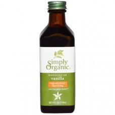 Simply Organic, Мадагаскарская ваниль, безспиртовой ароматизатор, выращено на ферме, 118 мл (4 унции)