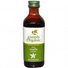 Simply Organic, Мадагаскарский натуральный экстракт ванили, выращенной на ферме, 4 жидких унций (118 мл)