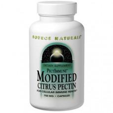 Source Naturals, PectImmune, модифицированный цитрусовый пектин, 750 мг, 120 капсул