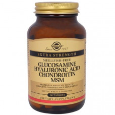 Solgar, Глюкозамин гиалуроновая кислота хондроитин MSM, 60 таблеток