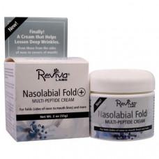 Reviva Labs, Nasolabial Fold+, крем с мультипептидами, 2 унции (55 г)