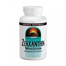 Source Naturals, Зеаксантин с лютеином, 10 мг, 60 капсул