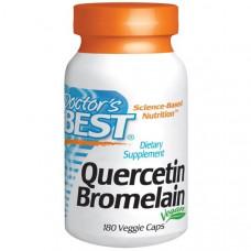 Doctors Best, Кверцетин и Бромелаин, 180 капсул