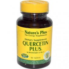 Natures Plus, кверцетин плюс 90 таблеток