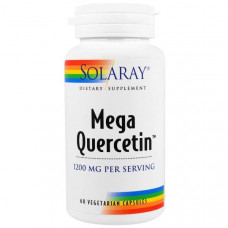 Solaray, Мега Кверцетин, (Quercetin) 600 мг, 60 капсул