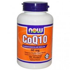 Now Foods, Коэнзим Q10, 60 мг, 180 капсул в растительной оболочке
