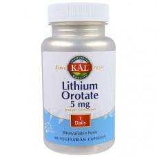 Оротат лития, 5 мг, KAL, 60 капсул