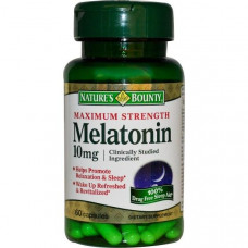 Natures Bounty, Мелатонин, максимальная сила, 10 мг, 60 капсул