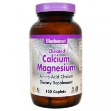 Хелатный кальций и магний Bluebonnet Nutrition, 120 капсул