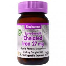 Хелат железа Bluebonnet Nutrition 27 мг, 90 капсул