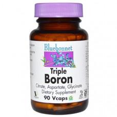 Тройной бор 3 мг Bluebonnet Nutrition, 90 капсул