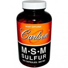 Сера MSM Carlson Labs 800 мг, 180 капсул