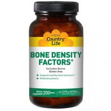 Минеральная добавка для костей с бором Country Life, 200 таблеток