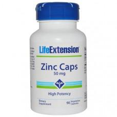 Цинк в капсулах Life Extension 50 мг, 90 капсул