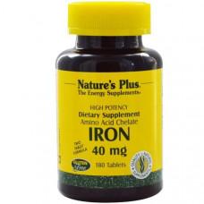 Железо Natures Plus 40 мг, 180 таблеток