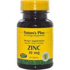 Цинк Natures Plus 10 мг, 90 таблеток