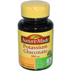 Калия глюконат Nature Made 550 мг, 100 таблеток