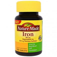 Железо Nature Made 65 мг, 180 таблеток