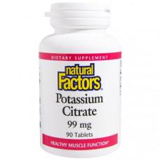 Цитрат калия Natural Factors 99 мг, 90 таблеток