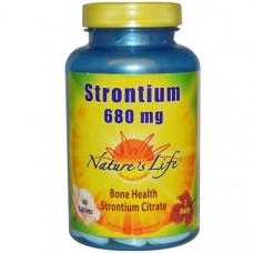 Стронций Natures Life 680 мг, 60 таблеток