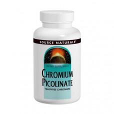 Пиколинат хрома Source Naturals 200 мкг, 240 таблеток